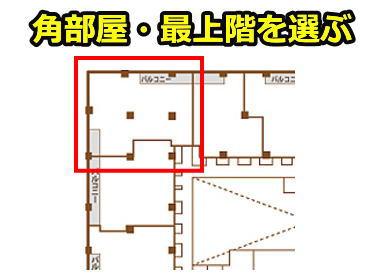 角部屋・最上階を選ぶ
